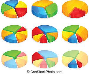 Diagramas circulares de color
