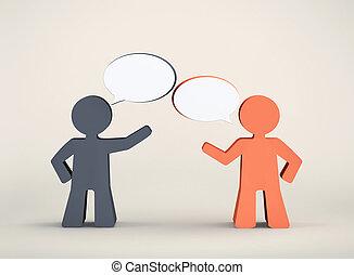 Dialogo entre dos hombres