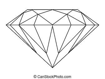 diamante, contorno