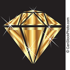 Diamante en oro con bling bling