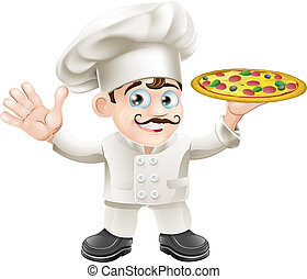 Diario italiano de chef de pizza