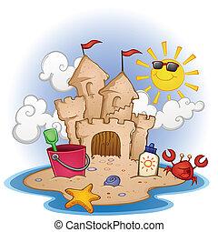 Diarios de playa del castillo de arena