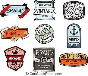Dibujé insignias de colección