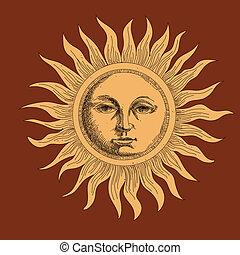 Dibujando el sol