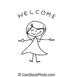 Dibujo a mano felicidad caricatura