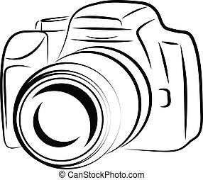 Dibujo contorno de cámara
