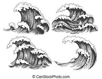 Dibujo de ondas marinas