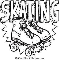 Dibujo de patinaje