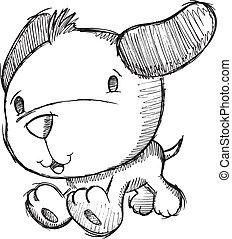 Dibujo de perro perrito