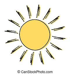 Dibujo del sol