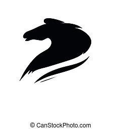 Dibujo estilizado de la cabeza de un caballo