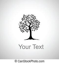 Dibujo estilizado de un árbol