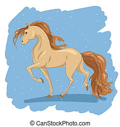 Dibujo estilizado de un caballo
