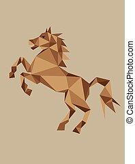Dibujo geométrico de caballos