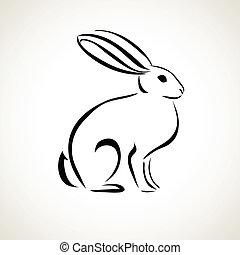 dibujo lineal, conejo