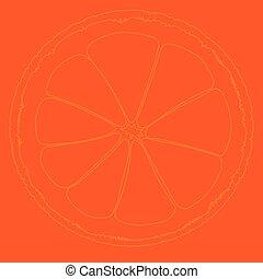 Dibujo naranja de sangre