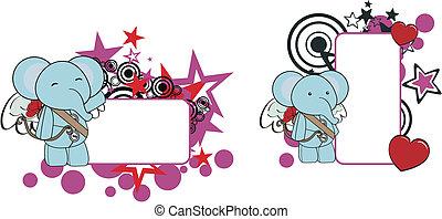Dibujos animados de elefante