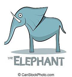 Dibujos animados de elefantes: ilustración vectorial de fondo blanco