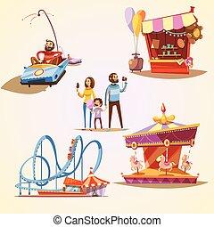 Dibujos animados del parque de diversiones
