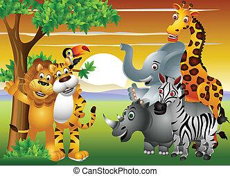 Dibujos animados en la jungla