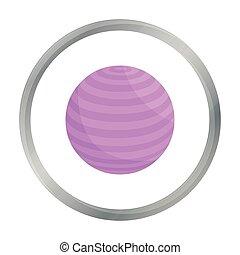 Dibujos de ícono de la bola. Un ícono deportivo de la gran aptitud, saludable, de entrenamiento.