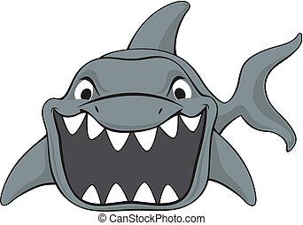 Dibujos de ataque de tiburón