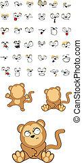 Dibujos de bebé mono set5