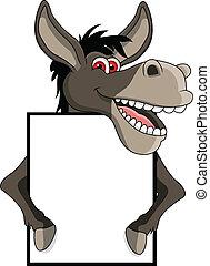 Dibujos de burro con señales en blanco