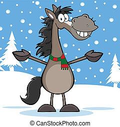 Dibujos de caballos grises