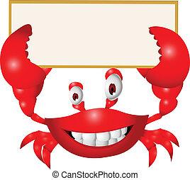 Dibujos de cangrejo con señales en blanco