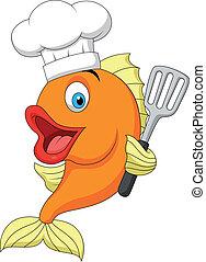 Dibujos de chef de pescado
