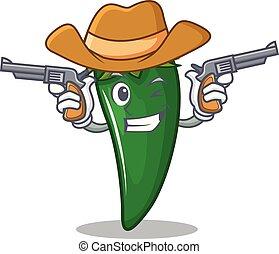 Dibujos de chile verde vaquero