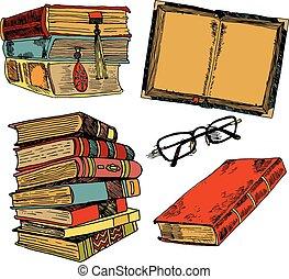 Dibujos de colores de libros antiguos