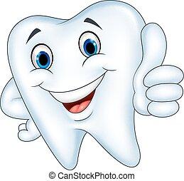 Dibujos de dientes con pulgar arriba
