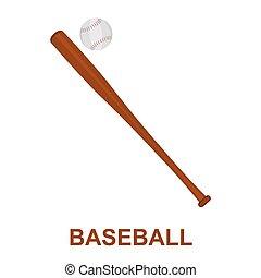 Dibujos de icono de béisbol. Un ícono deportivo de la gran aptitud, saludable, de entrenamiento.