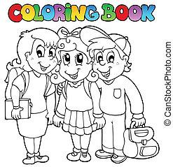 Dibujos de la escuela de color 6