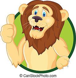 Dibujos de león con pulgar hacia arriba
