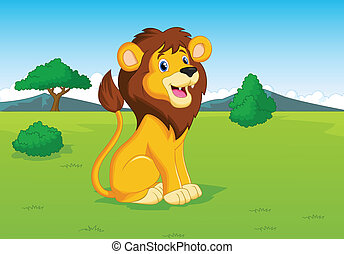 Dibujos de león en la sabana