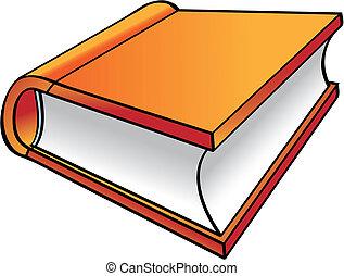 Dibujos de libro naranja