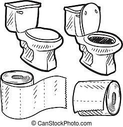 Dibujos de objetos de baño