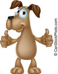 Dibujos de perros dando pulgares arriba