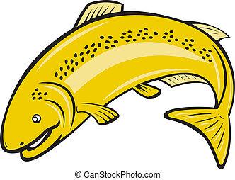 Dibujos de pez arcoiris de truchas