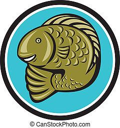 Dibujos de pez trucha saltando en círculos