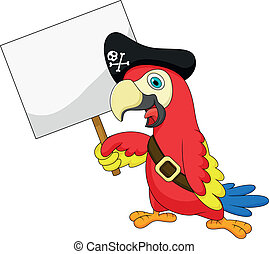 Dibujos de piratas de loro con sí blanco