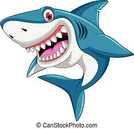 Dibujos de tiburones enojados