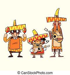 Dibujos de un mexicano
