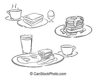 Dibujos estilo desayuno