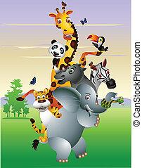 Dibujos salvajes de animales africanos