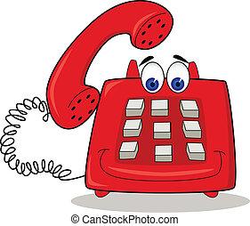 Dibujos telefónicos rojos
