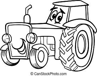 Dibujos tractores para un libro de color
